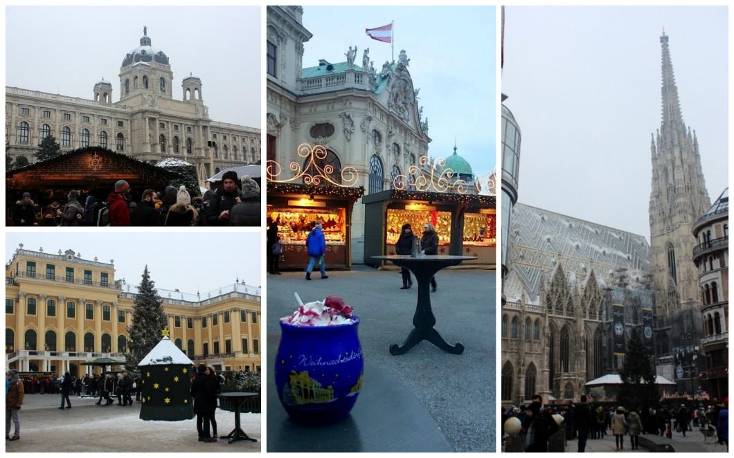 Christmas markets Schönbrunn Belvedere Maria-Theresien-Platz Stephansplatz Vienna Austria