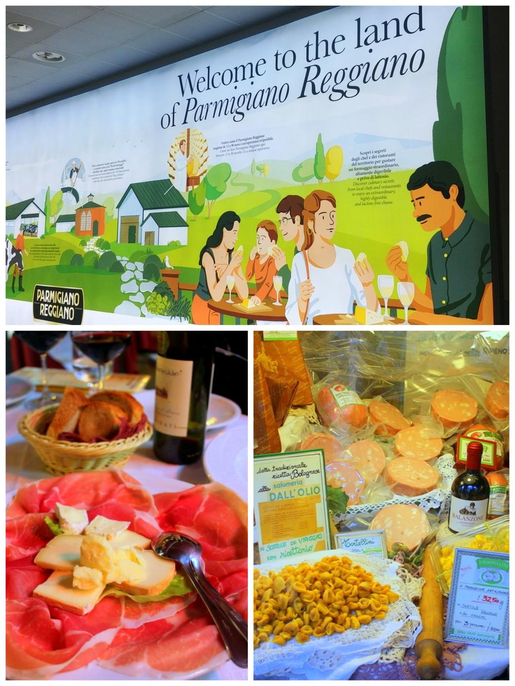 Italy Bologna must eat parmiggiano reggiano prosciutto mortadella