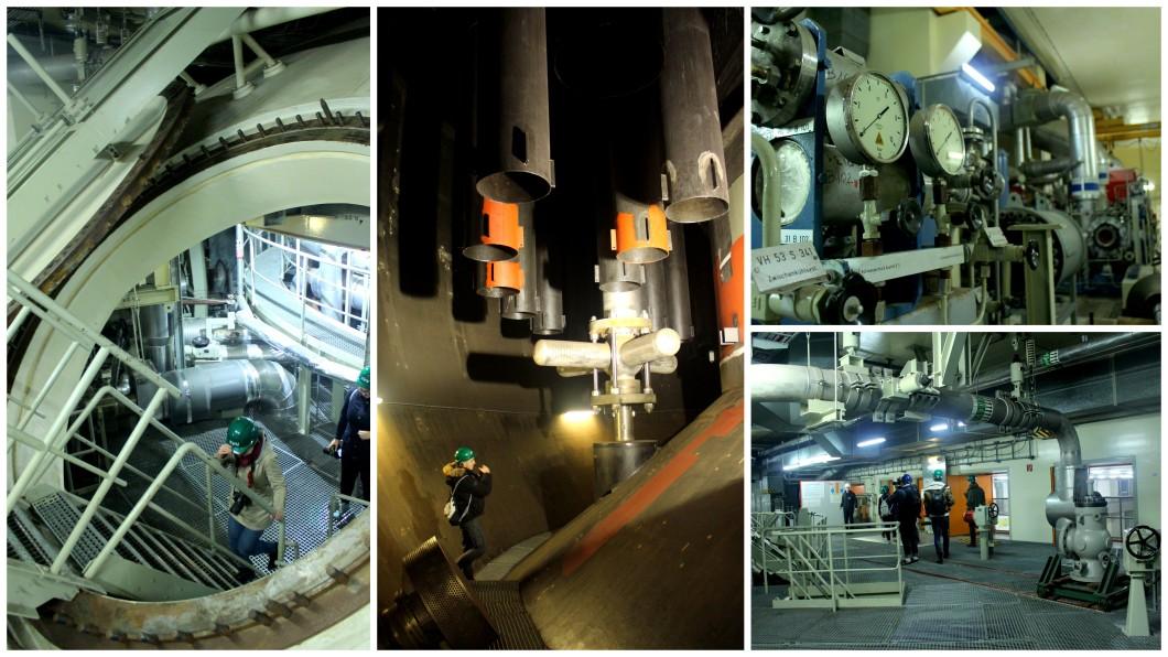 Zwentendorf nuclear power plant inside walk